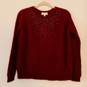 Sezane Sweaters - New Sezane Rhinestone Jumper Burgundy S